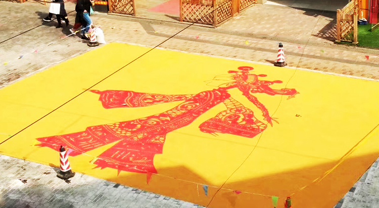 山东泰安万达金街手绘